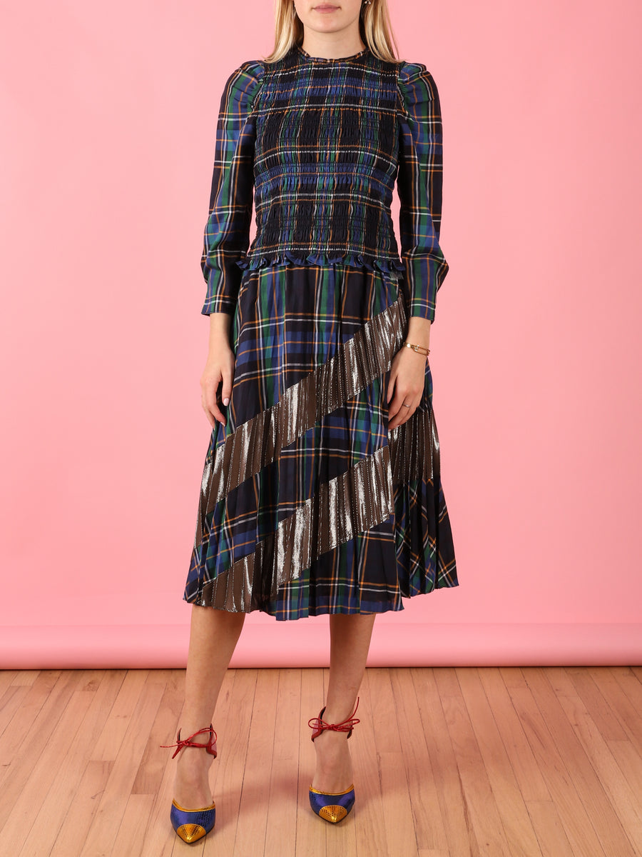 Plaid Reyna Midi Skirt