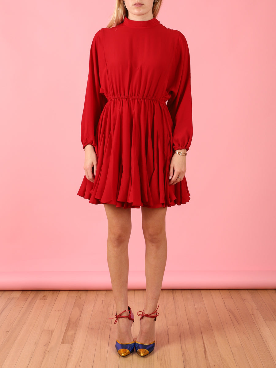 Caroline Dress in Ruby