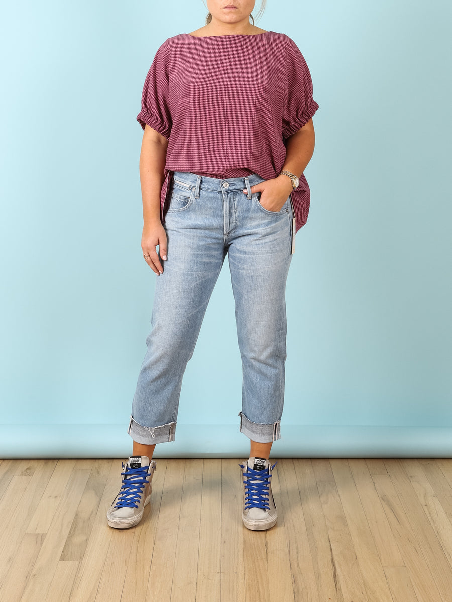Emerson Crop Slim Boyfriend in Capri