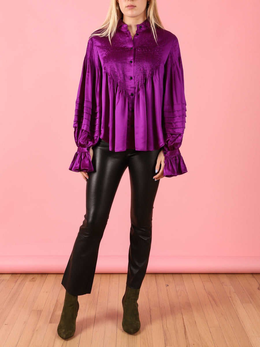 Ava Blouse in Purple