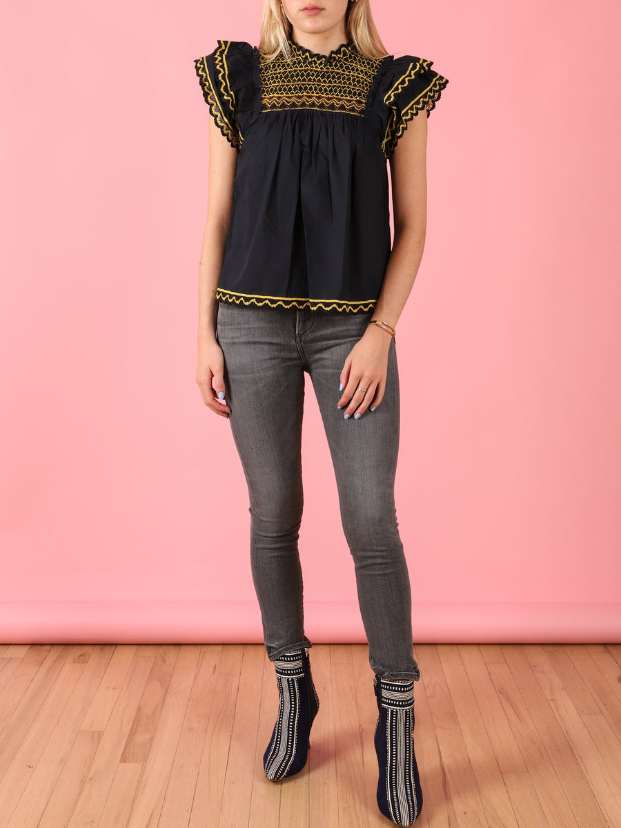 Hazel Top in Midnight