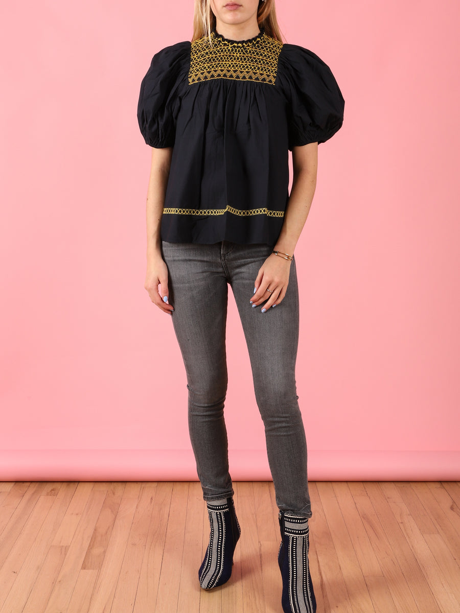 Arden Top in Midnight