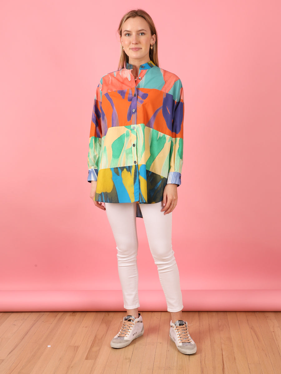 Multicolor Button Down Shirt