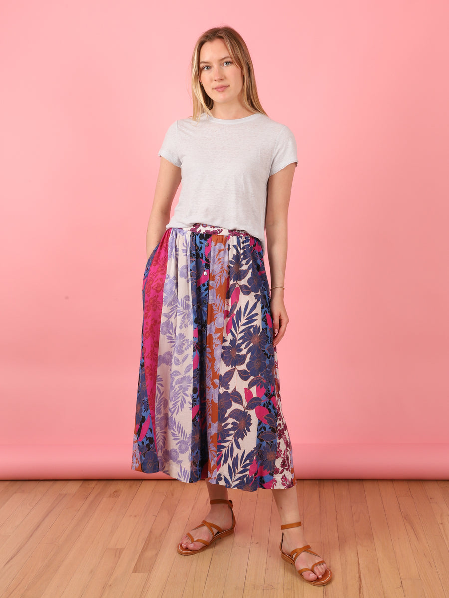 Teagan Print Skirt in Pink