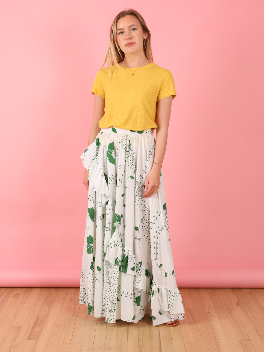 Emerald Floral Lola Skirt