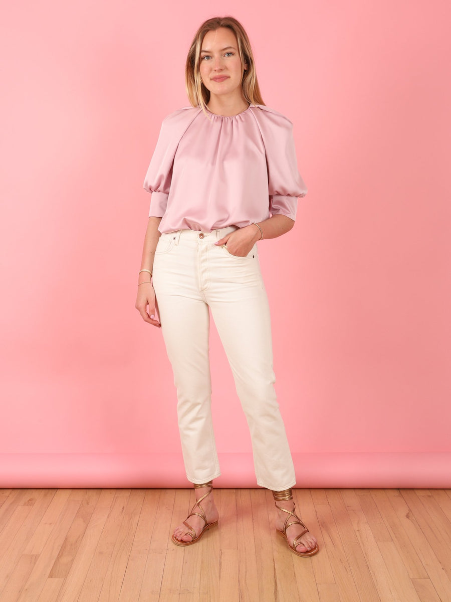 Lilac Satin Crepe Tammy Top