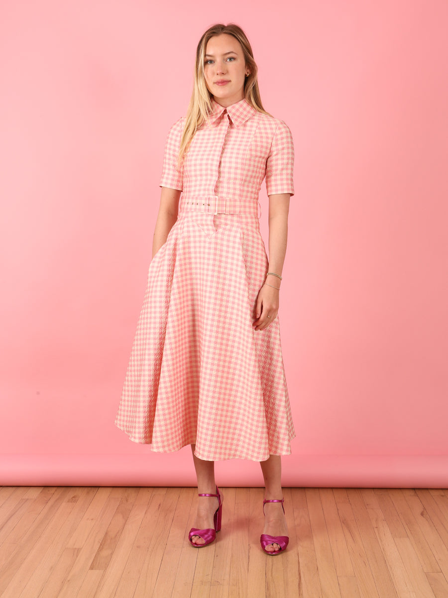 Josie Dress in Pink Gingham
