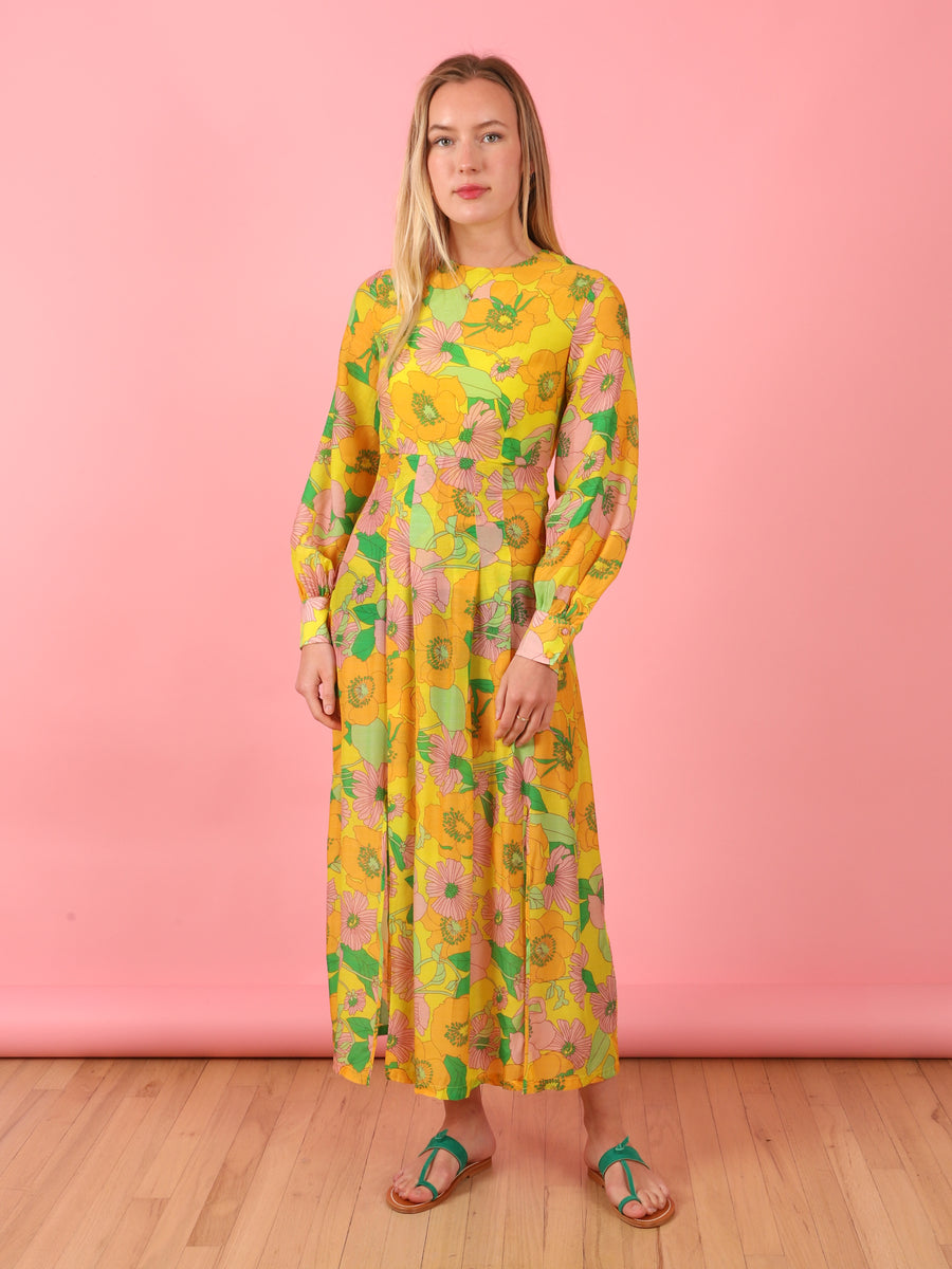 Retro Floral Emma Dress