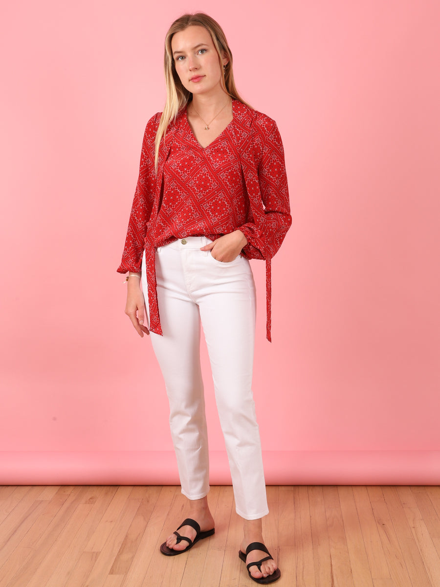 Bandana Moss Top in Red