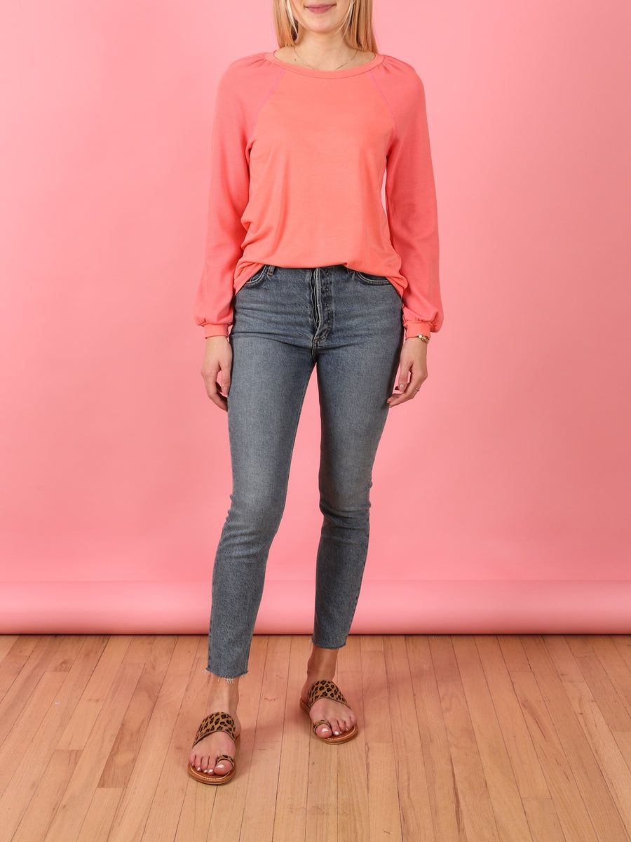 Salmon Raglan Road Top