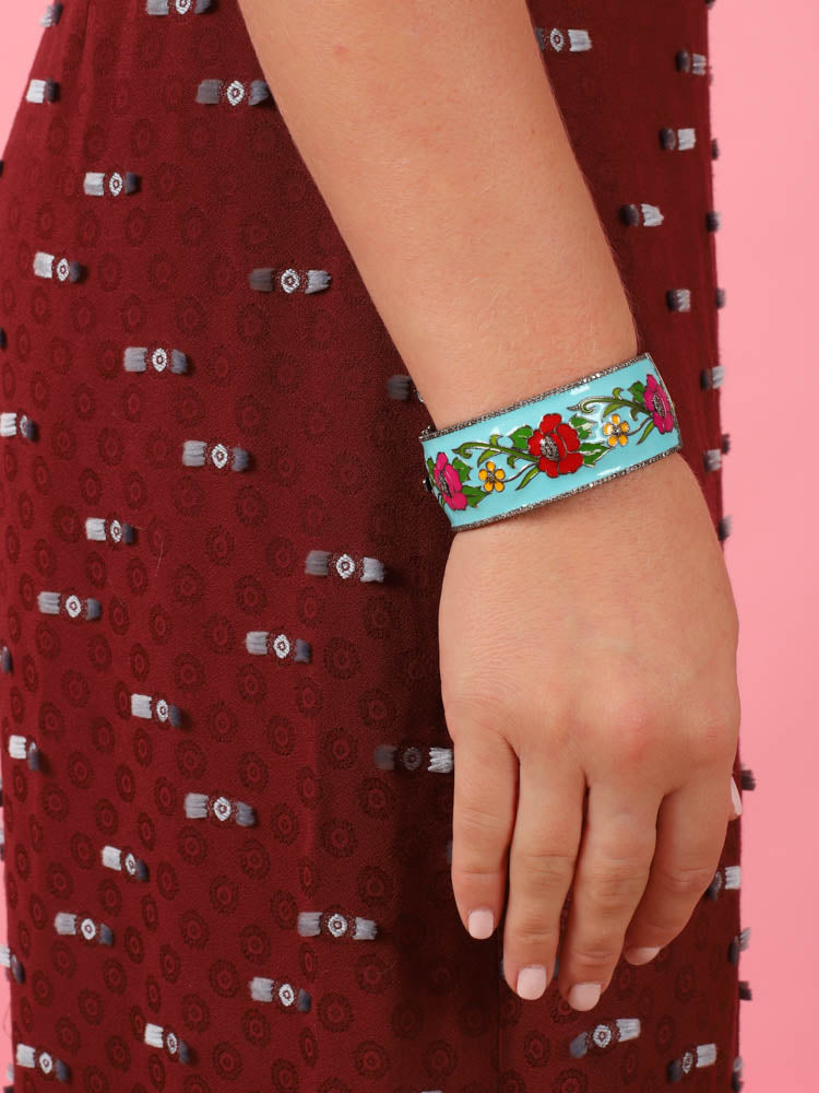 Floral Enamel Bangle