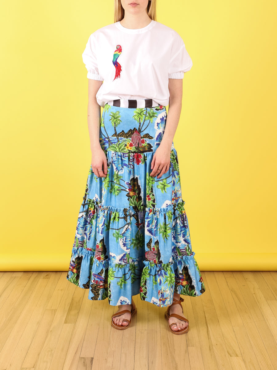 Short Sleeved Parrot Top