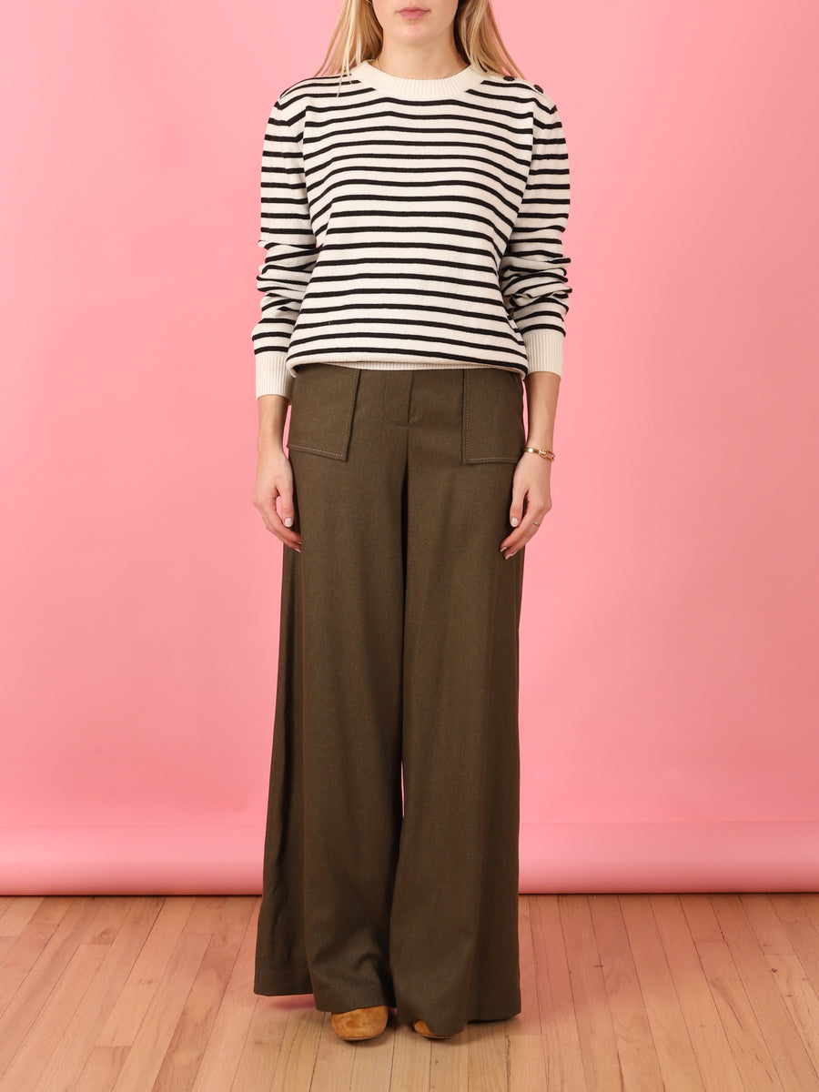Olive Tailored Pants