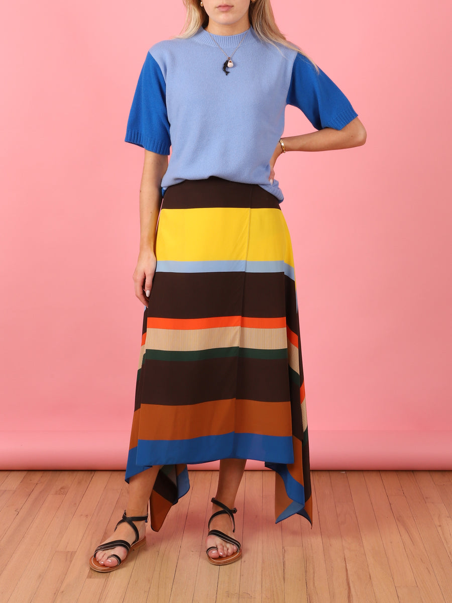 Colorblock Tee Sweater