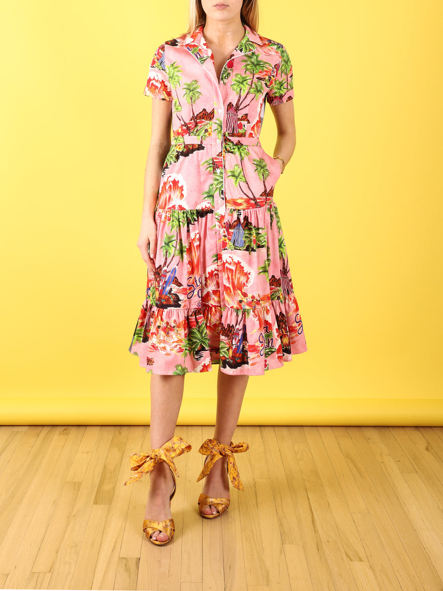 Pink Hawaii Shirtdress