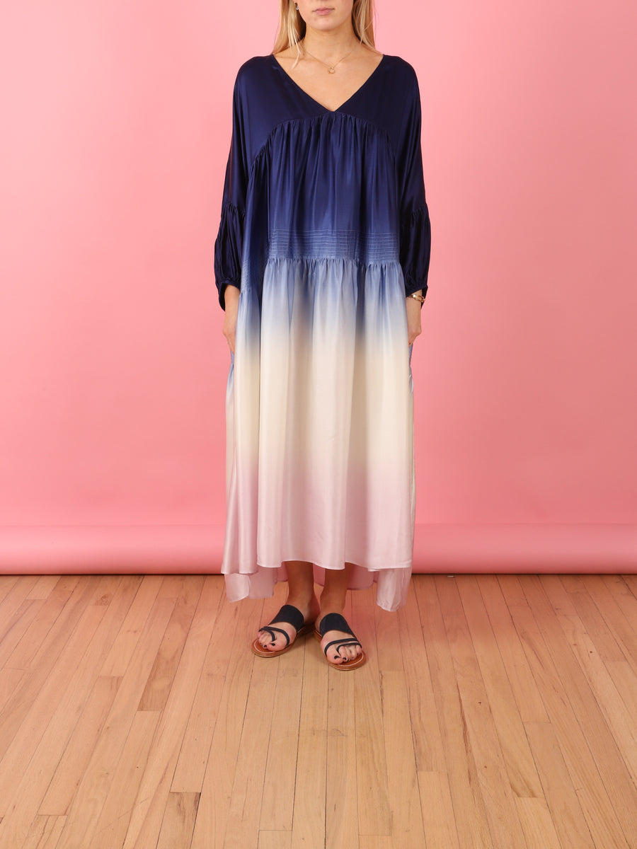 Airi Gypsy Maxi Dress in Navy & Lilac