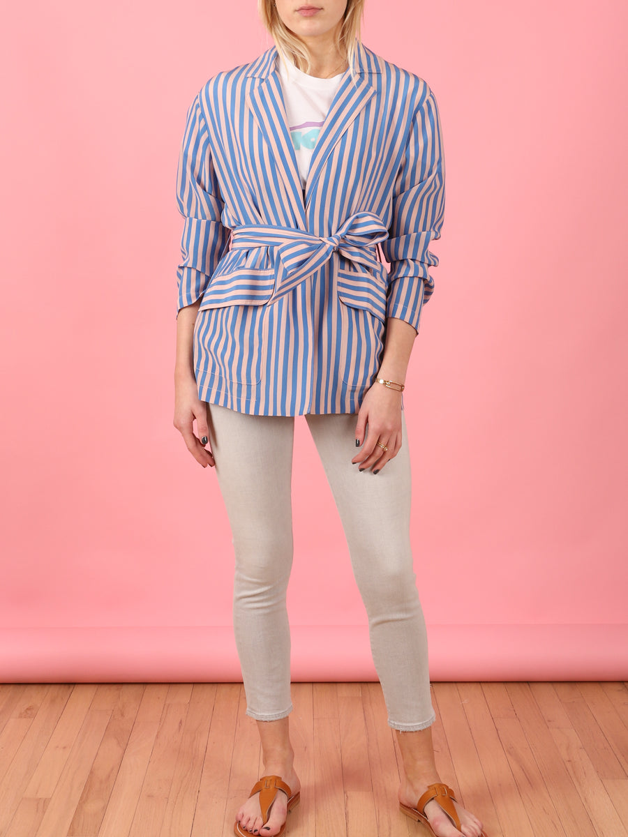 Stripe Mara Blazer in Blue