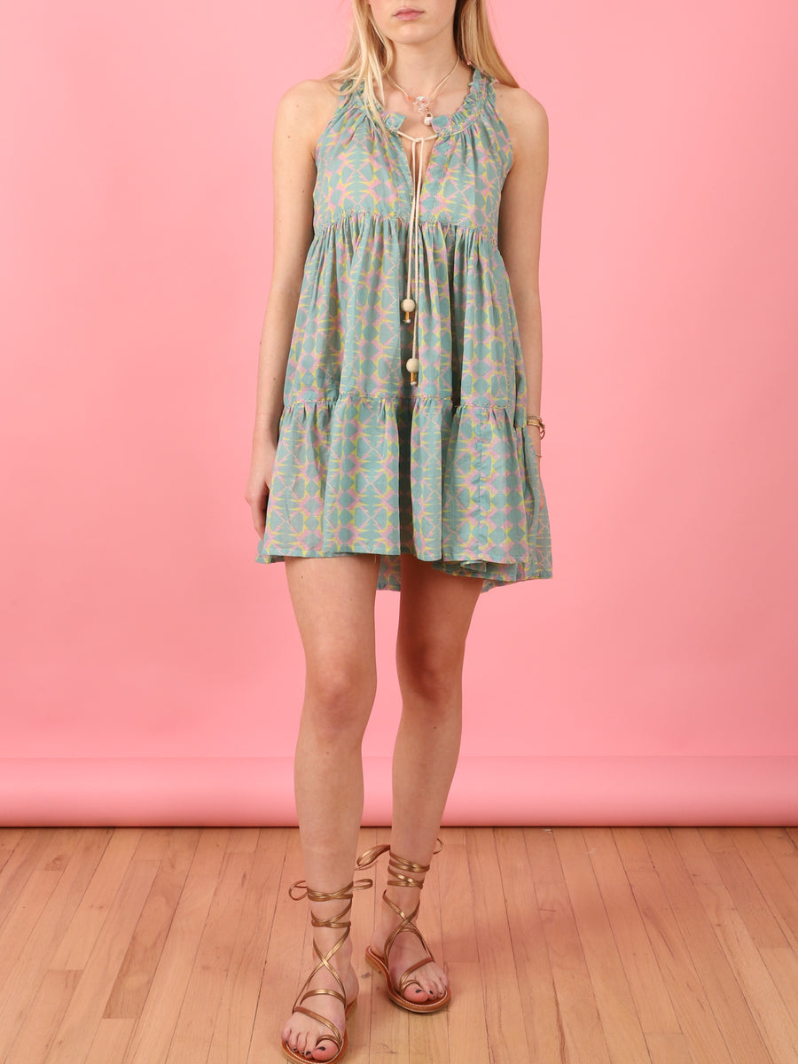 Mini Hippydress in Aqua
