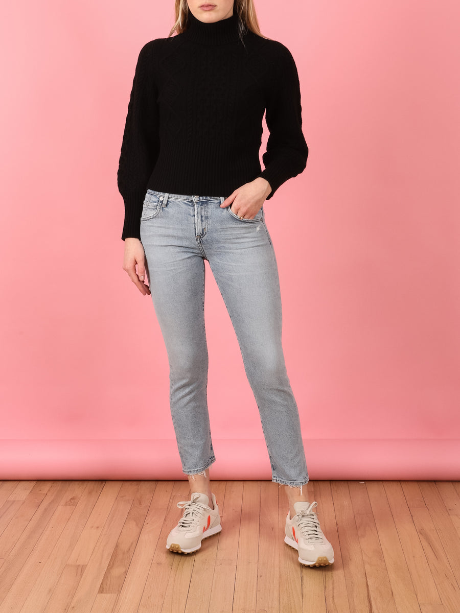 Elsa Mid Rise Slim Fit Crop in Imagine