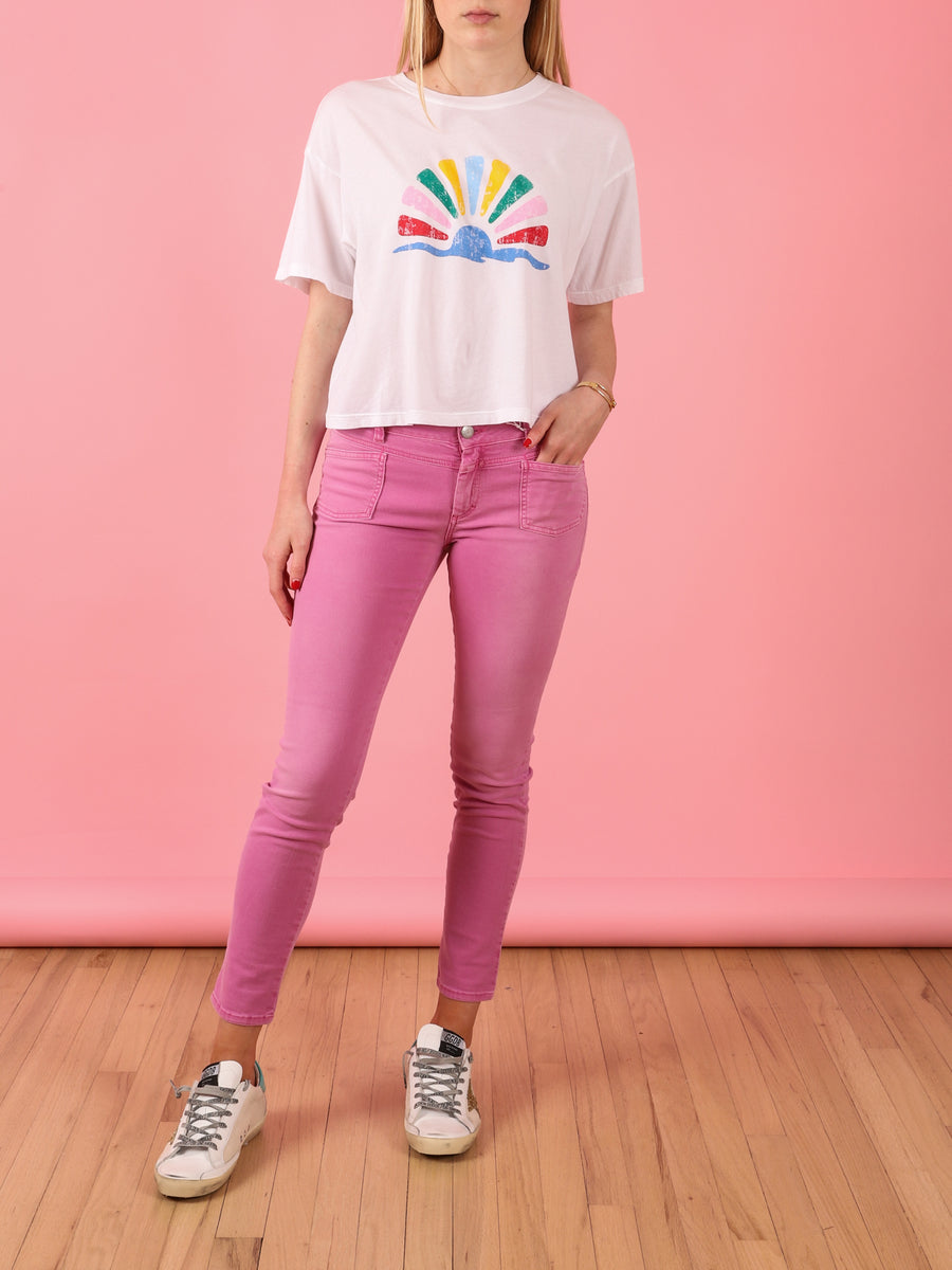 Jess T-Shirt in Sunrise White
