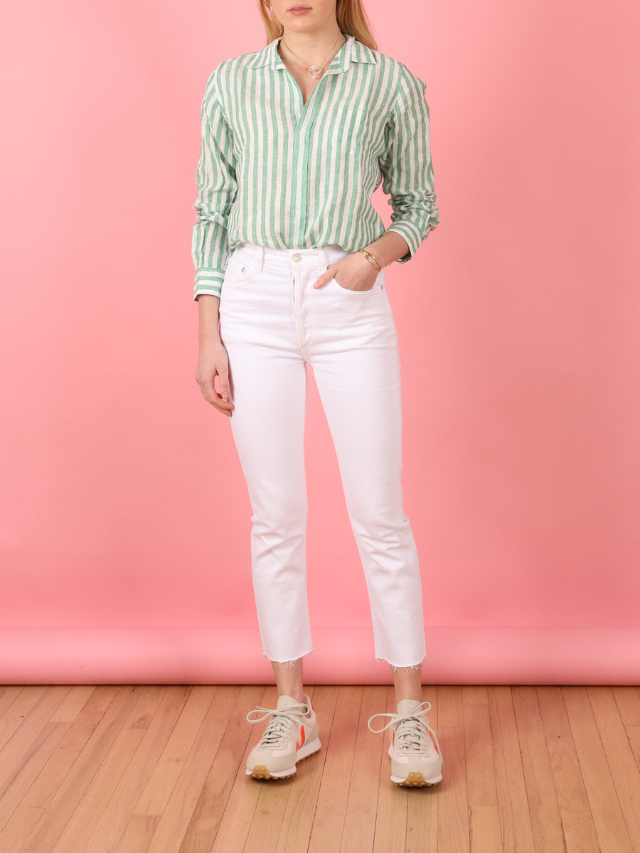 Barry Shirt in Green Stripe