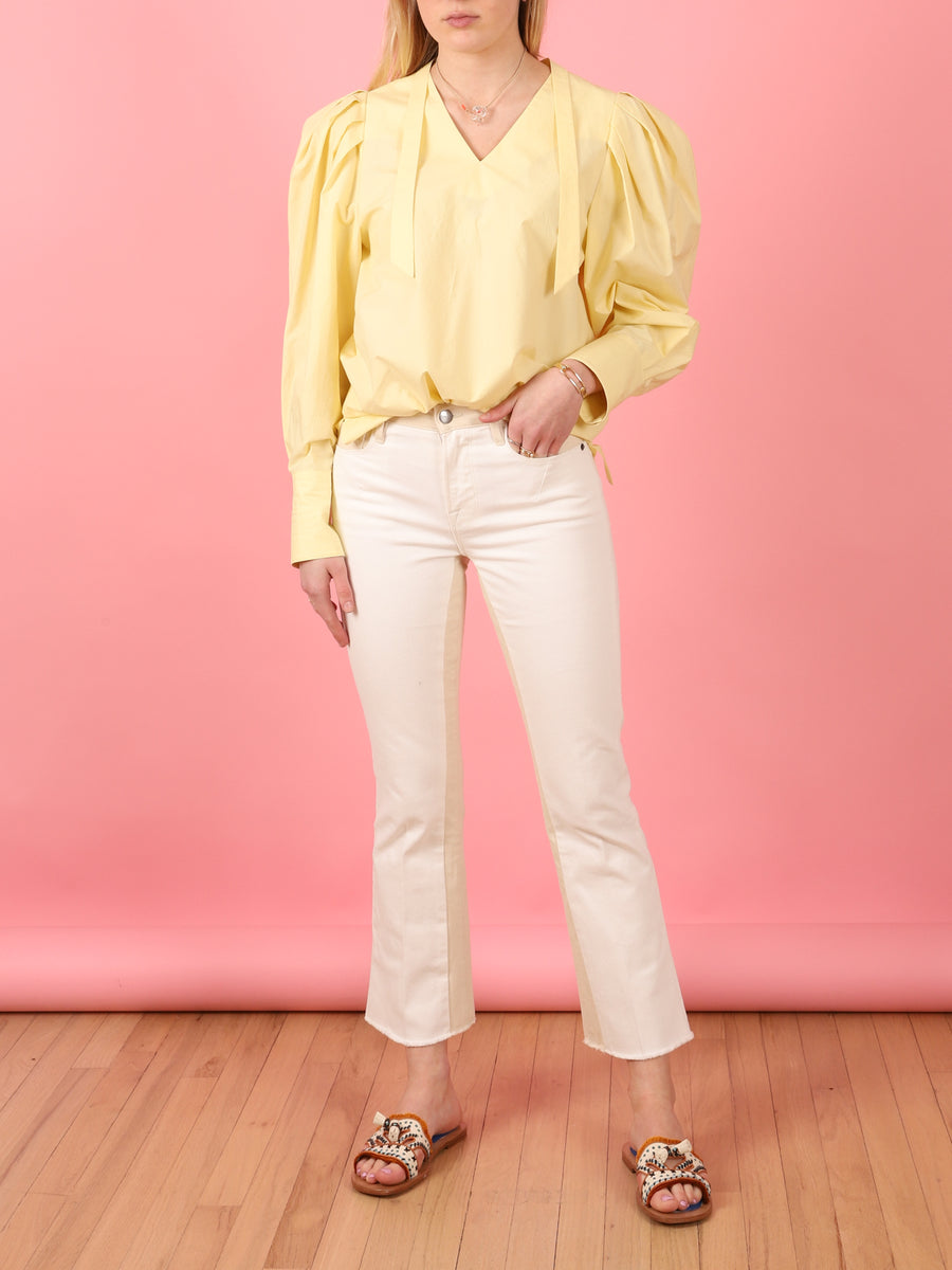 Puff Sleeve Top in Yellow