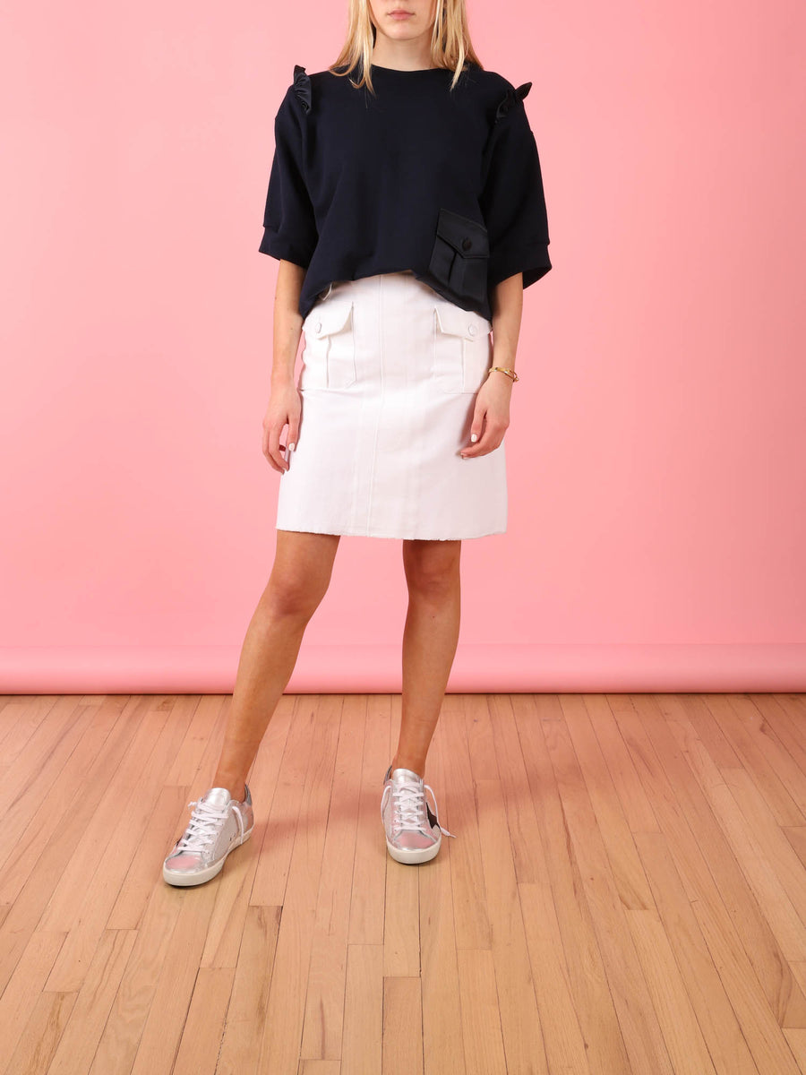 Utility Skirt in White
