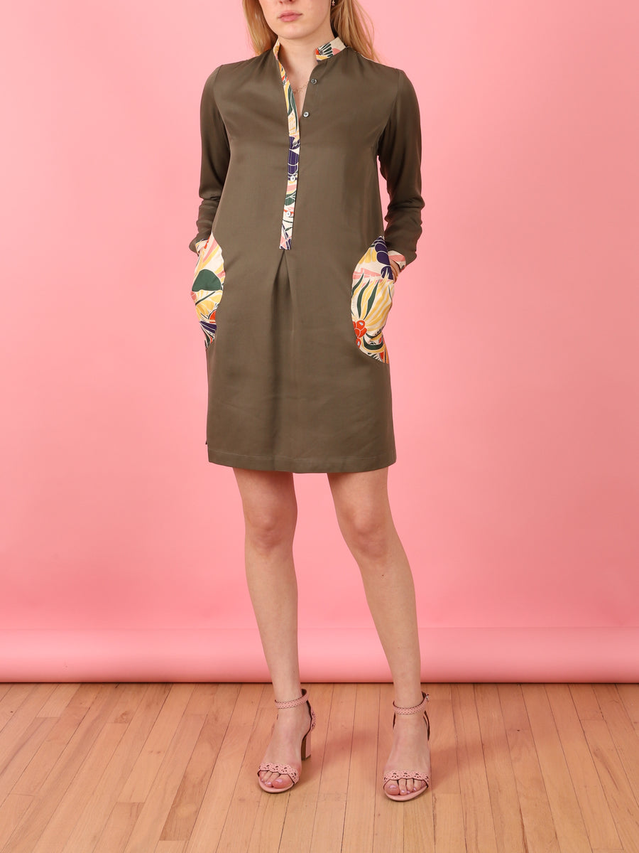 Hydra Dress in Khaki