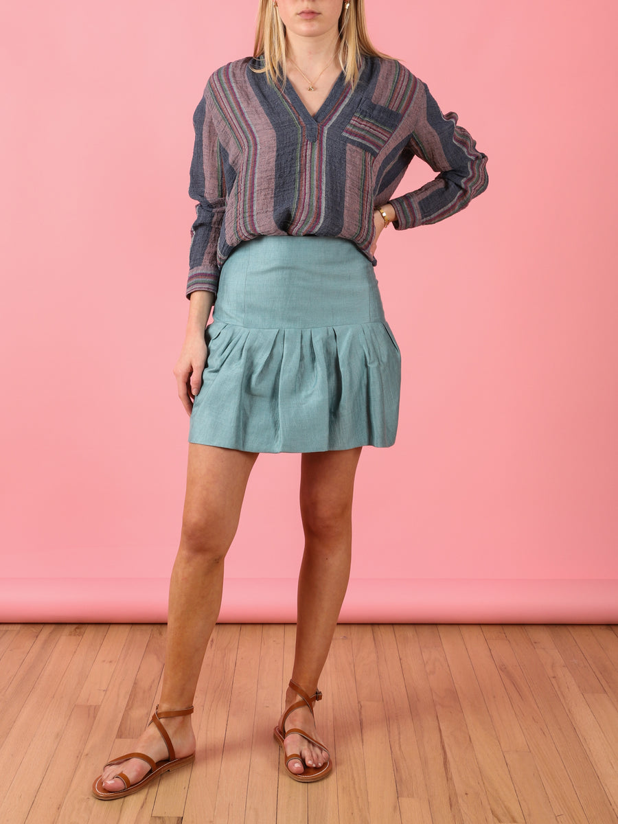 Villa Short Skirt in Aqua