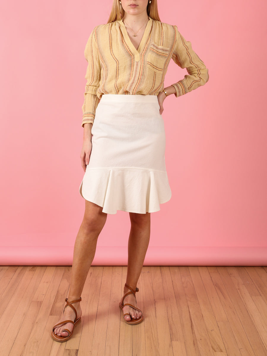 Gustavia Skirt in White