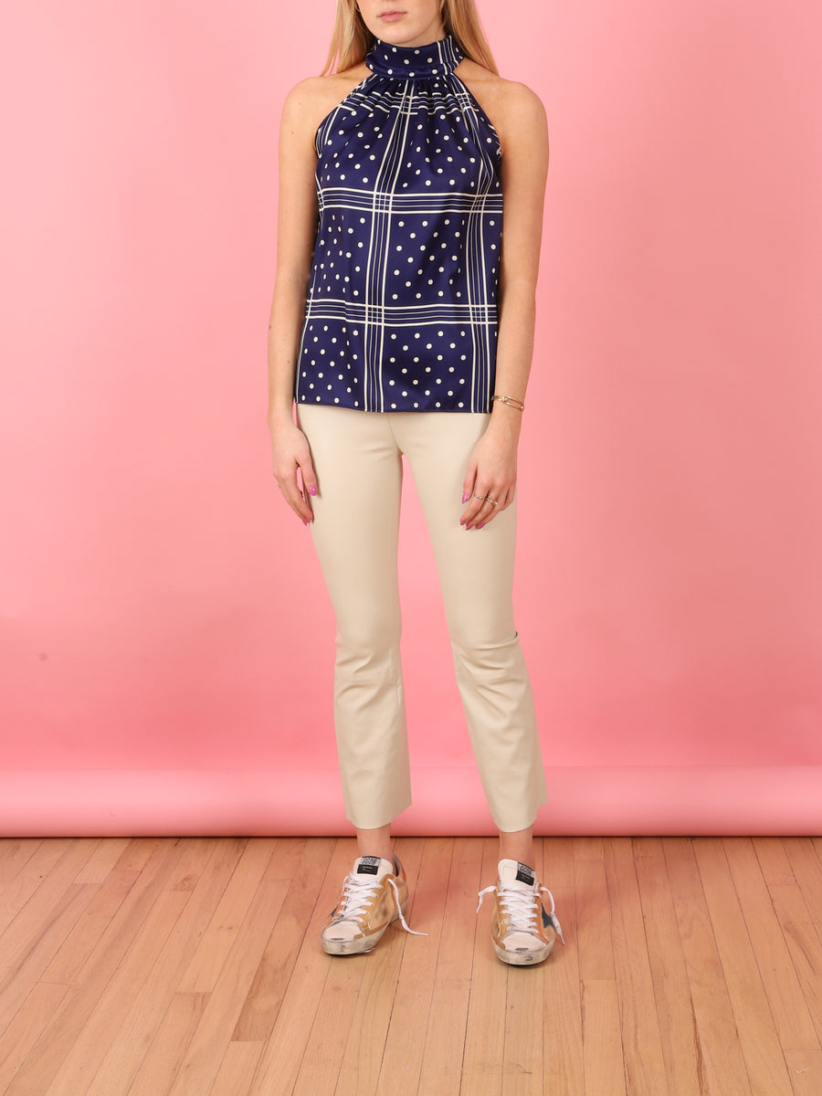 Woven Donna Blouse in Blue