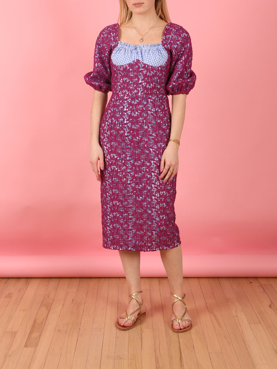 Macrame Dress in Fuschia