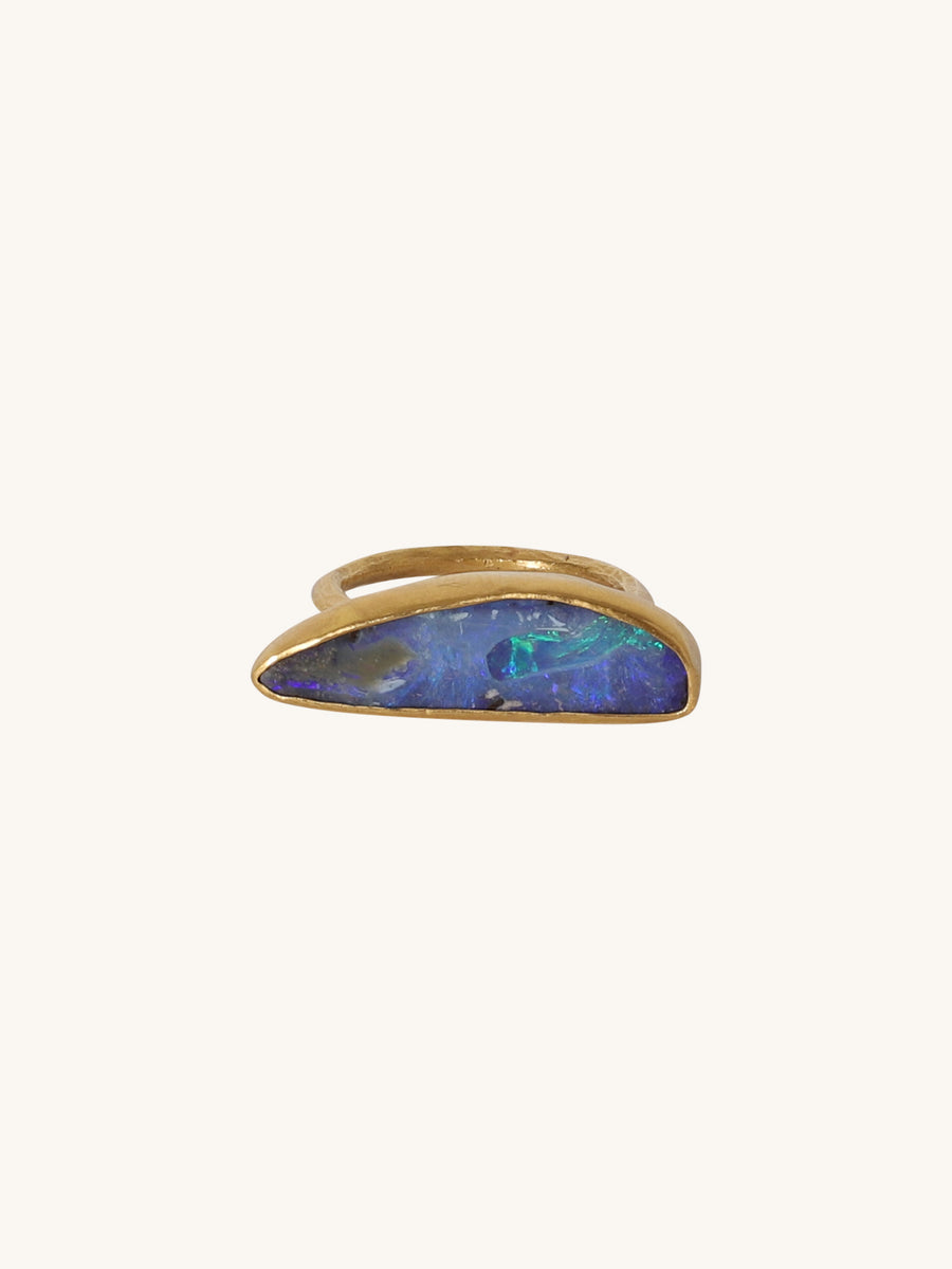 Large Boulder Opal Stack Ring