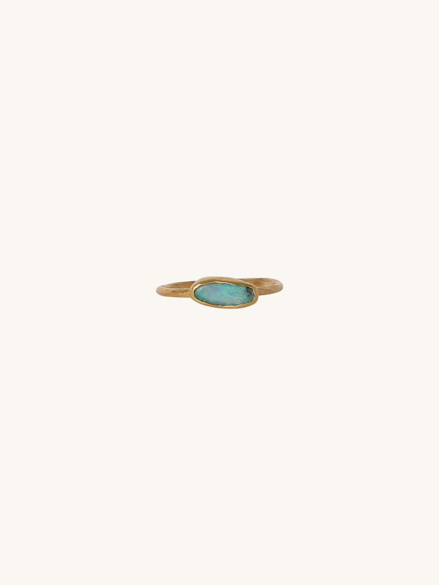 Mini Oval Opal Ring