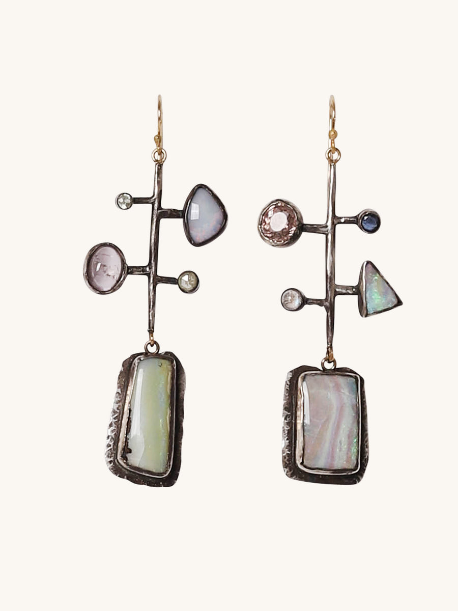 Opal Multi Stone Earrings