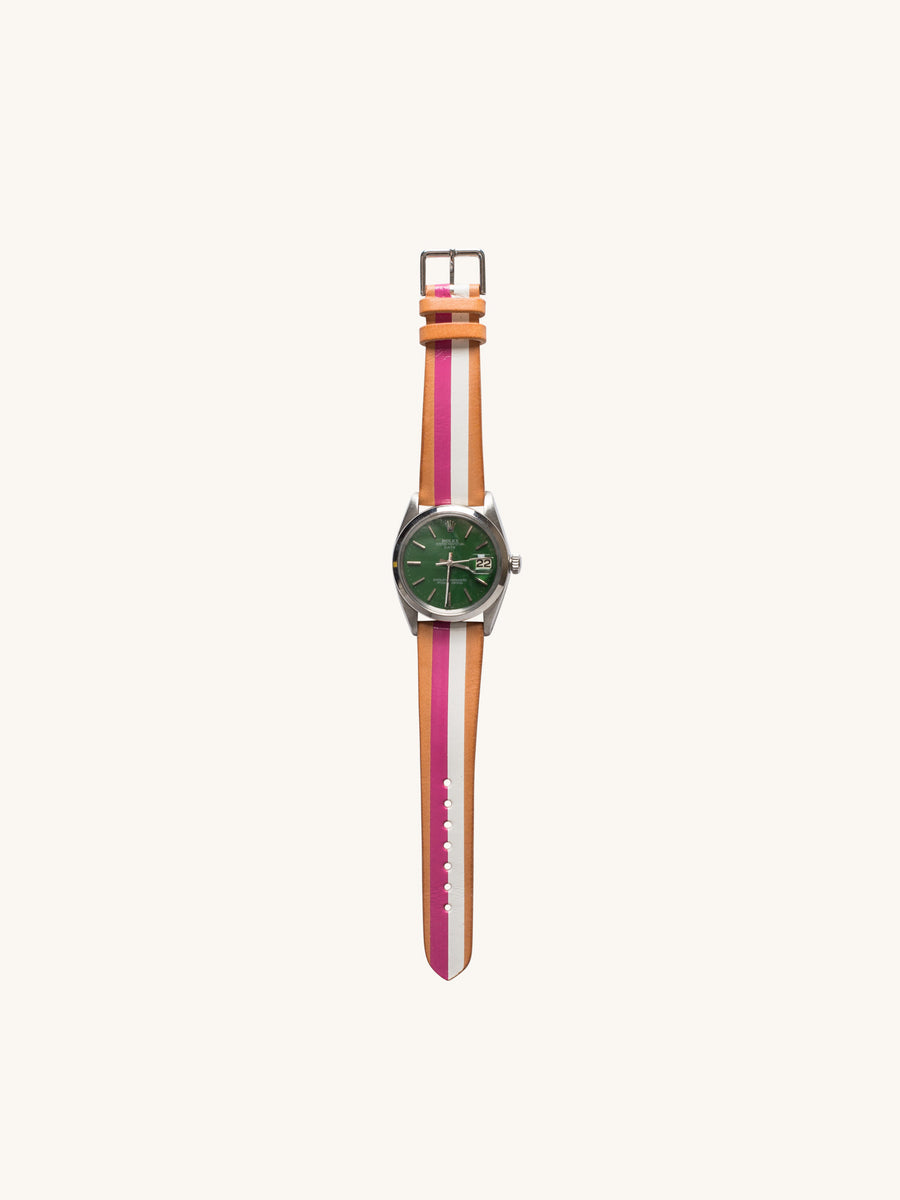 Green Berry Rolex Oyster Perpetual Date Watch