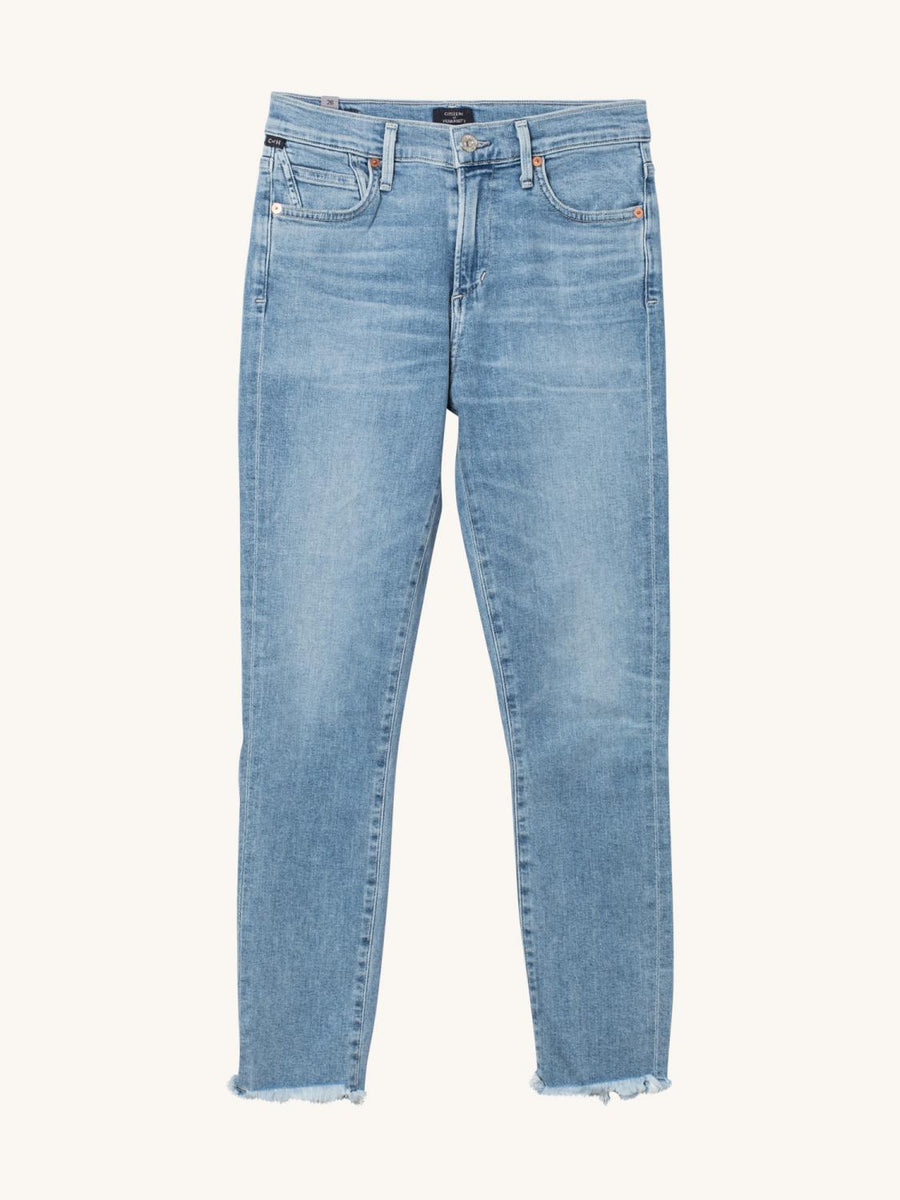 Rocket Crop High Rise Skinny in Long Distance