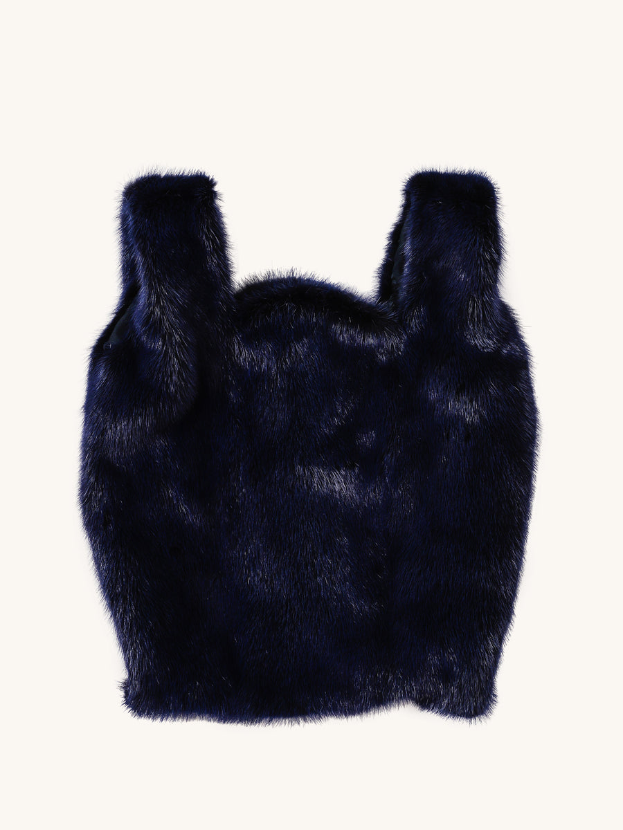 Royal Blue Mink Bag