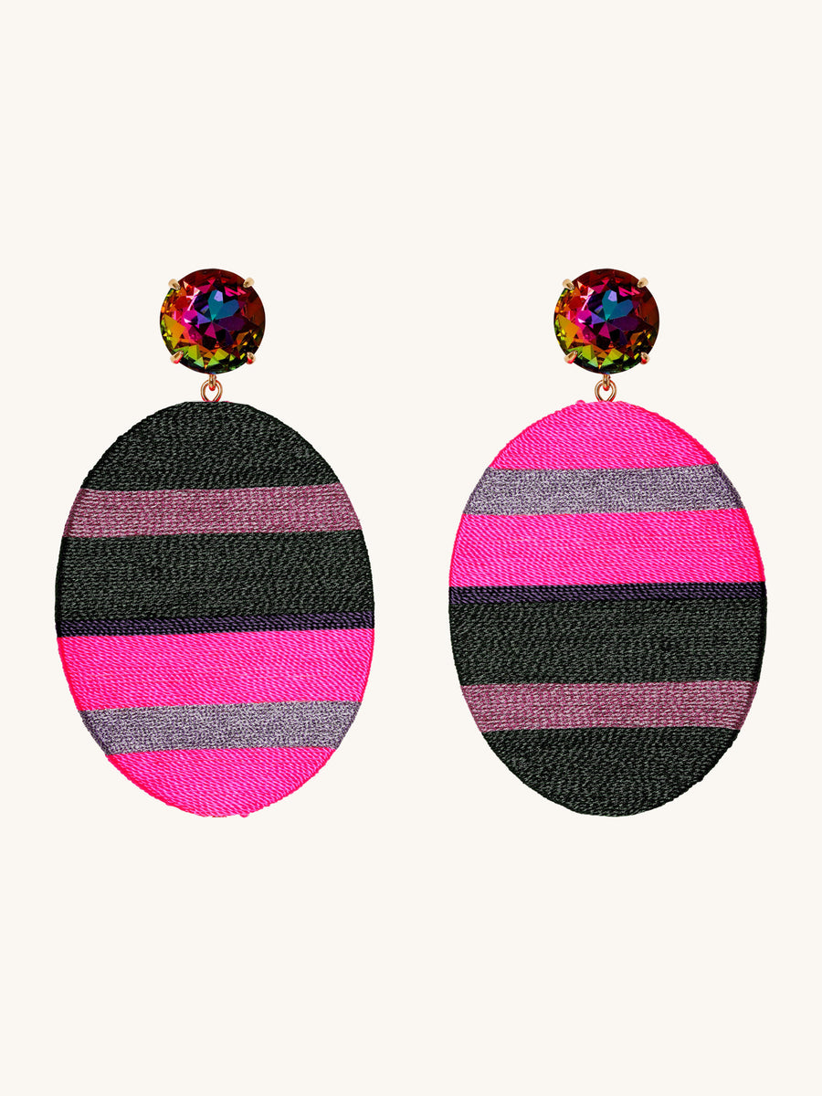 Hilton Earrings in Neon
