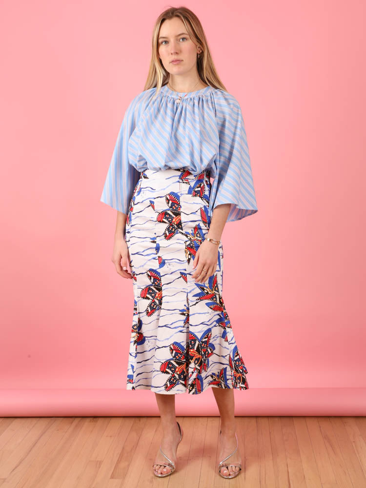 Bird of Paradise Midi Skirt
