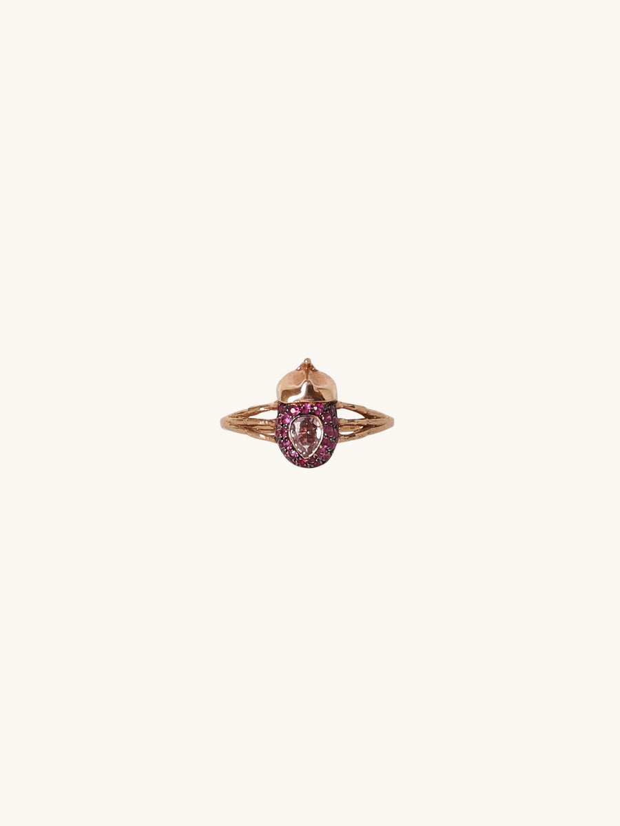 Pink Sapphire Bug Ring
