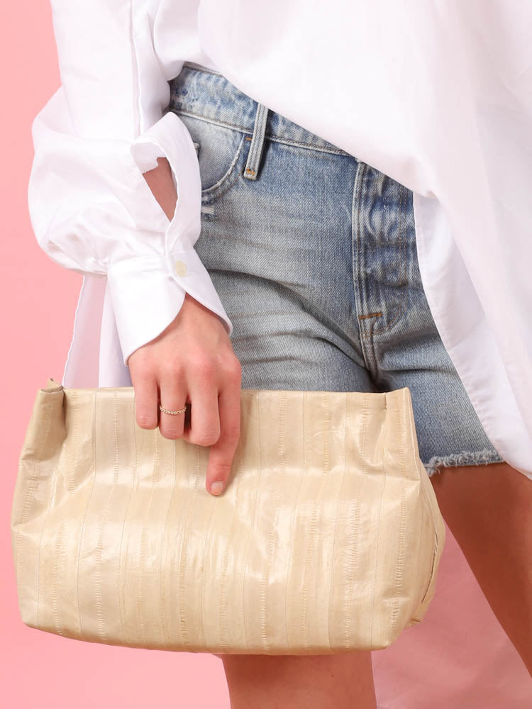 Momo Clutch in Cream
