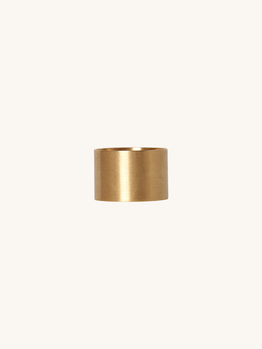 12.5mm Brushed Yellow Gold Band