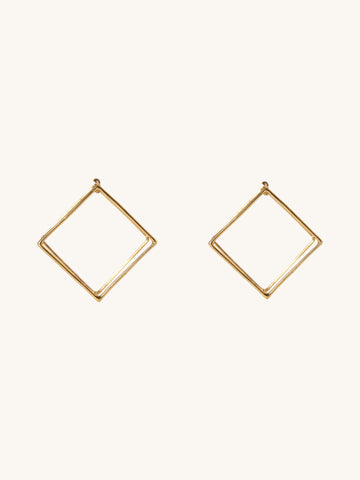 20mm Square Earring