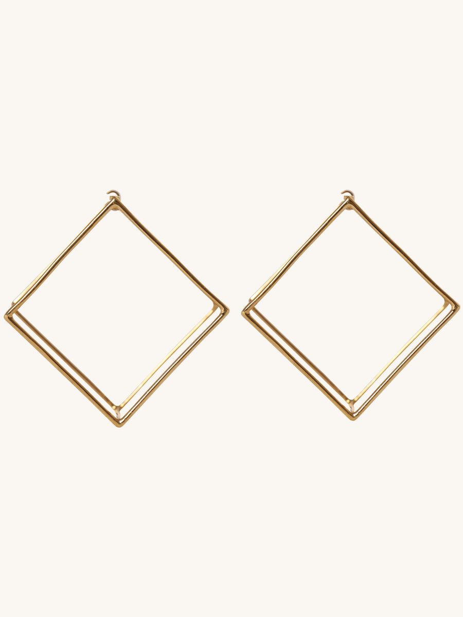 25mm Square Earring