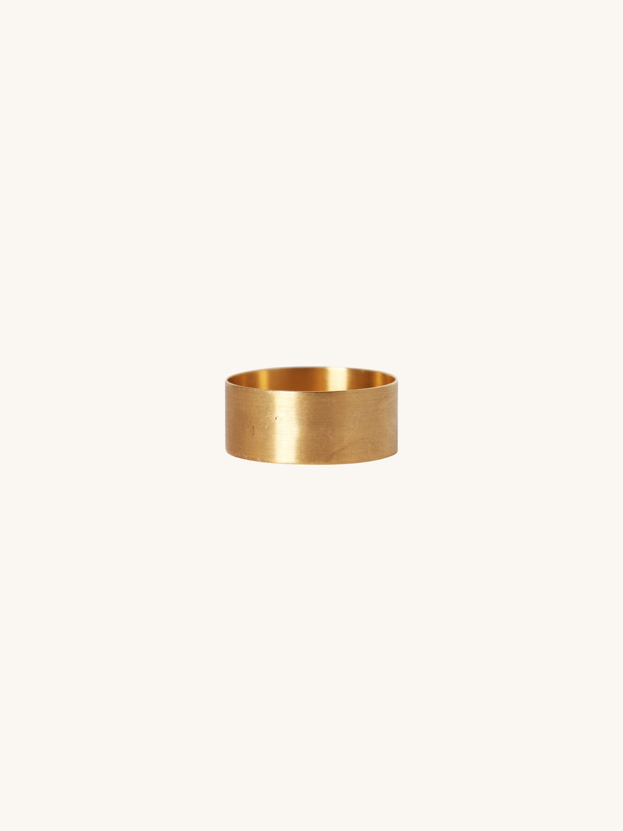 7.5mm Brushed Yellow Gold Band