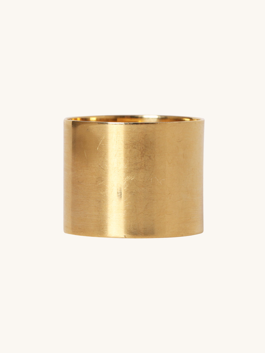 15mm Polished Yellow Gold Band