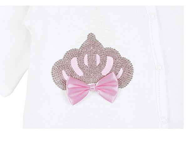 Baby Girl European Princess Crown - 3 Pieces - Pink