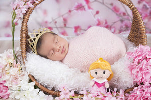 Princess Crown Baby Girl Headband Crystal Crown Hair Accessory Stretchable  Gold  and  Silver