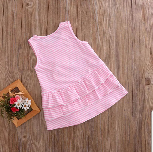 Lovely Princess Sleeveless Toddler Infant Baby Girls Kids Dress Casual Party Wedding Pageant 0-4Y Dress